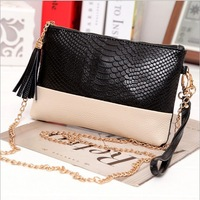 Free shipping leather Tassel handbags shoulder bags messenger bag Day clutch Chain bag small bag women's clutches