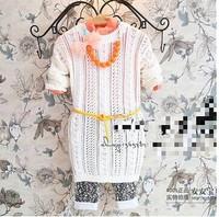 Children's clothing wholesale Girls cuhk TongQiu fashion long wool dress girls lace crochet dress