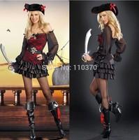 Piratecosplay clothes Halloween Costumes Pirates of the Caribbean mounted skeleton pirates in Somalia free shipping
