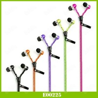 Wholesale 3.5MM Stereo Bass Headset In Ear Metal Zipper Earphones Headphones For Iphone 6 Plus For Samsung S5 S4 Note 3 Note 4