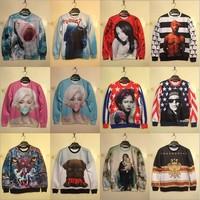 Fashion New Women/Men Galaxy hoodies Long Sleeve Pullover 3D Sweater 3D prints 3D Sweatshirt tops T-shirt/S/M/L/XL