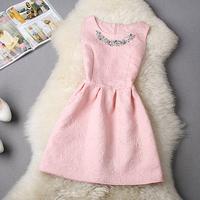 S-XL 2014 autumn plus size women's temperament Slim princess dress tutu dress mini dress#XU01