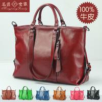 Genuine Leather handbags wholesale new spring and summer 2014 shoulder Laptop Messenger fashion Totes803
