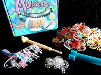 New loom bands Kit Monster Trail Rubber Band DIY Bracelet kits Hot christmas gift present children Jewelry