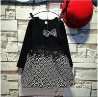 Han edition children's clothing wholesale dress manufacturers selling paragraph princess girls plaid dresses