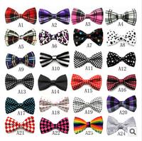 Freeshipping 12pcs/lot 2014 new Men and women high-grade printing tie Formal wedding bow ties bowknot