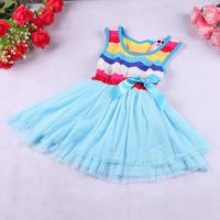 Free shipping 2014 Hot new summer girls cotton dress  baby girls