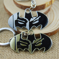 designer 45pc batman alloy metal vintage keychains  keyring video game famous movie acessory hot selling Free shipping by EMS