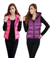 2014 Winter's Vests Outwear Coats Women Winter Vest Fashion Cotton Coats for Women Winter Waistcoat Plus Size Free Shipping