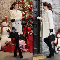 2014 New Fashion Women's Slim Woolen Blend Double-breasted Coat Winter wool coat women