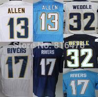 Free Shipping cheap American Football Jersey,#13 Keenan Allen 17# Philip Rivers #32 Eric Weddle men elite jersey size 40-56