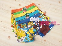 Free shipping 6pcs/lot baby boy cotton underwear kids cartoon panties cute bear boys boxer briefs children fashion underpants