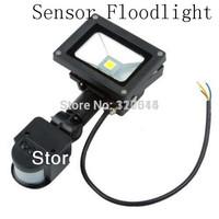 Free shipping  Black Color 10W led park light PIR Passive Infrared Motion Sensor Flood Light AC 110-220V 900 Lumen waterproof