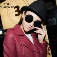 2014 Fashion Vintage Round SunGlasses Women UV400 Protection Optical Shades Oculos Gafas Goggles Mirror Sun Glasses