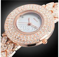 New Fashion Brand Weiqin Women Gold Steel Casual Watch Lady Full Bling Diamond Quartz Analog Vintage Dress Wristwatch Waterproof