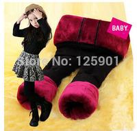 Frozen leggings girl pants winter 3-14 years old children kids warm pants 2014 new free shipping