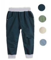 New Autumn-Spring Boys Casual Pants Trousers Elastic Waist Child Pure Cotton Leisure Pants Boy Classic Bottoms 4 Colors