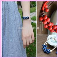 New Style Designer Artificial weave Garnet Bracelet for Woman Ceramic BraceleT Fashion Jewelry Gift  1Pcs/Lot