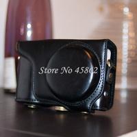 Free shipping Black pu Leather case for Samsung Galaxy GC100 EK-GC100 GC110 GC120 camera bag