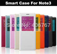 Wholesale Free Shipping Leather S View Window Case For Samsung Galaxy Note3 N9000 100PCS/lot