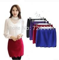 Plus Size Women Skirts Workk OL Woolen Professional Skirts 2014 Autumn Winter Casual Fashion Mini Skirts Above-Knee A-Line Skirt