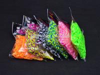 #1127 Double Colors 8 Stripped Rainbow Bracelet Rubber Bands 600pcs/bag