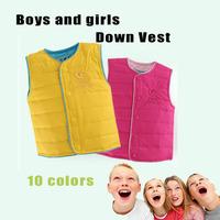2014 Autumn/Winter Children's Down Vest Boy And Girl Duck Down Waistcoat Kids Down Jacket Outerwear