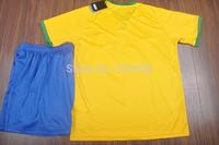 best quality 2014/15 DANI ALVES T.SILVA DAVID LUIZ MARCELO soccer jersey & shorts uniform NEYMAR JR OSCAR football shirt kit