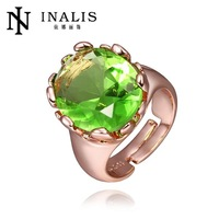 R421 Wholesale High QualityNickle Free Antiallergic New Fashion Jewelry 18K Real Gold Plated Ring For Women Free Shipping