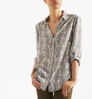 Printed cashew nut long sleeve shirt women hot sale cotton autumn retro new 2014 tops Free shipping