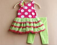 children clothing girls princess Christma snowman gift dress long sleeves TUTU dress red leggings rare editions Free shipping