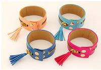 Wholesale New arrival fashion Ladies wear OL personality zipper Wide Leather bracelet ,12pcs/lot