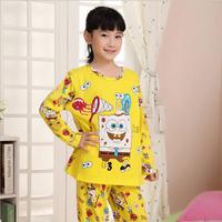 Children Pijamas SpongeBob pyjamas Printed Cotton Boys Nightgown Girls Bathrobe Casual Sleepwear Home Clothes Kids Pajamas
