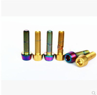 10 PCS M6 * 25 Titanium V brake bolts screws gold silver colorful for mtb bike bicycle