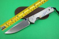 Chris Reeve Sebenza 21 Pocket Folding Knife CNC D2 Blade Full TC4 TITANIUM Handle Camping Knives