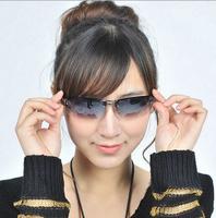2014 New arrival free shipping Black gradient men women cool Sunglasses half frame sports glasses