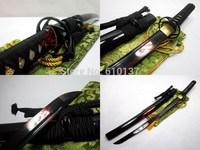 "30"" clay temperd T-10 steel cyclone tsuba wakizashi katana adsorb tungsten sharp sword"