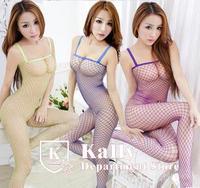 New sexy lingerie Nightclubs fun fishnet open-backed Conjoined socks