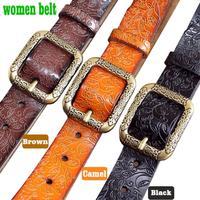 Women's Belts Leather belt Fashion belts for women vintage embossing Priced sales