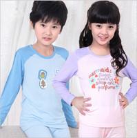Pijamas Kids Warm Autumn Pyjamas Big Virgin Boys nightgown Girls Pajamas Long-sleeved Pants Suits Home Clothes Robe Kids Pajamas