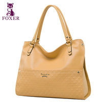 FOXER women handbag new 2014 fashion wristlets bag genuine leather handbags high quality cowhide shoulder bags ladies brand tote