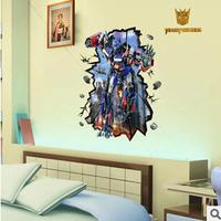 New Arrivals 1Pcs Iron Man Sticker 3D Elephant Wall Decal Vinyl Kids Room Decoration Adesivo De ParedeWall Sticker
