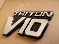 TRITON V10 badge F-SERIES 1999-2004 Super Duty SUPERDUTY F-250 F-350 F-450 F-550 FENDER EMBLEM NEW F81 [Q'S] 07504