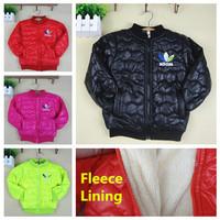 2014 Boys Girls Cotton-padded Winter Coat Brand Children Outerwear Fashion Jackets for Kids Boy Thickening Fleece Parkas & Down