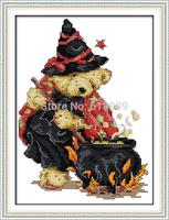 Magic Little Bear Counted Cross Stitch Set 11CT 14CT DMC Cross Stitch DIY Cross Stitch Kits for Embroidery Home Decor Needlework