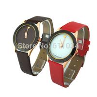 Lady Women High Quality Luxury Dress Watch fashion Synthetic Leather Strap Analog Quartz Brand Wrist Rhinestone Watches 6 Colors