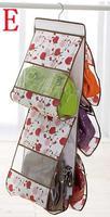 Clear Women Tidy Home Purses Handbag Hanging Storage Organizer Bag Closet