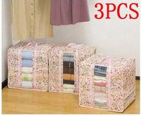 Non Woven Fabrics Flower Towel Carpet Clothing Organizer Storage Box