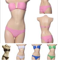 2014 NEW Fashion Deep V Shape Bikini Bathing Suit Swim Biquini Sexy Swimwears Push up Bikinis set Swimwear Women Swimsuit