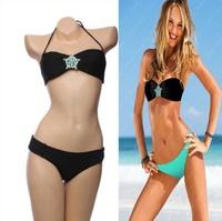 2014 NEW Fashion Gem Diamond Bikinis Bathing Suit Women Swimsuit Bikini Sexy Swimwears Push up Bikinis Swimwear